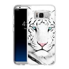 Coque Etui Samsung Galaxy S 8 Plus - Motif Tigre Blanc