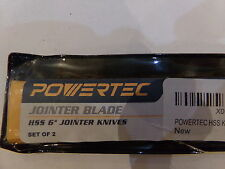 """POWERTEC JOINTER BLADE (SET OF 2) HSS 6"""" JOINTER KNIVES PC160JT - NEW"""