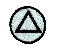 Patch patches backpack embroidered alcoholics anonymous white sobriety logo