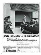 PUBLICITE ADVERTISING 094  1969  LA CUIRASSEE    porte de garage basculante