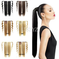 Magic Straps 100% Human Hair Ponytail Comb Pony Tail Hair Extensions 16''-22''