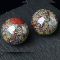 80-90mm 2.2-2.64lb Natural Dragon Blood Stone Quartz Crystal Sphere Ball+Stand
