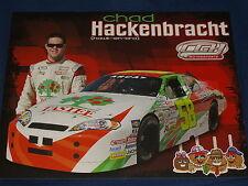 2012 CHAD HACKENBRACH #58 TASTEE CHOCOLATE APPLES ARCA NON-NASCAR POSTCARD