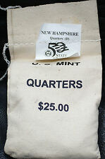 $25 US Mint Sewn BU 2000-D New Hampshire State Quarters Bag Original Packaging