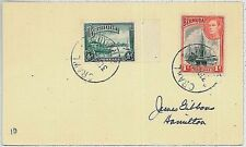 swimming BERMUDA -  POSTAL HISTORY:  COVER with postmark CRAWL