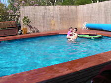 ABOVE GROUND SWIMMING POOL PACKAGE 6.2mx3.6mx1.32m FREE FUN PACK  - AUST MADE