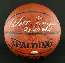 Walt Frazier SIGNED I/O Basketball NY Knicks + 7 x All Star PSA/DNA AUTOGRAPHED