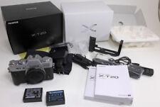 Fuji Fujifilm X-T20 24 MP digital BODY w/box books charger 2 batteries xtra grip