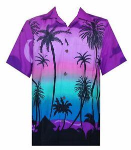 Hawaiian Shirt 5 Mens Allover Coconut Tree Print Beach Aloha Party