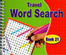 Spiral Bound Word Search Travel Books Kids Adults 170 Puzzles Book 21 - 3090