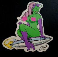 """COOP Sicker Decal Martian Girl ROCKET Poster Artist Coop Poster Pop LRG 5.25"""""""