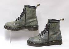 Genuine DR MARTENS AIRWAIR LEATHER 8 Eyelet Lace Up Boots Marble Patent UK 5