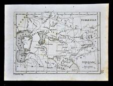 c. 1835 Levasseur Map - Turkestan - Uzbekistan Turkmenistan Russia Capsian Sea