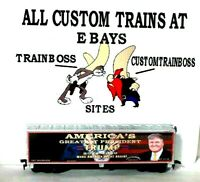 HO CUSTOM LETTERED DT AMERICA'S GREATEST PRESIDENT COLLECTIBLE REEFER LOT D