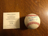 Ken Griffey Jr And Sr Signed Authenticated.  Beautiful Ball And Autographs.