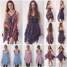 Flared Pixie Dress Womens - Festival Boho Paisley Fairy Tutu Mackies Fair Hippie