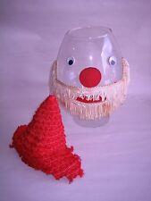 Vintage Giant Glass Brandy Snifter Santa Claus Cognac GlassFish Bowl-Barware