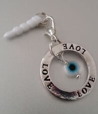 Love Evil Eye cell phone Charm Anti Dust Plug ear jack For iPhone smartphone