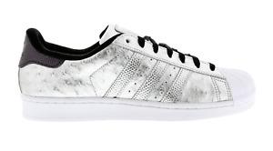 Scarpe da ginnastica da uomo in argento adidas superstar ...