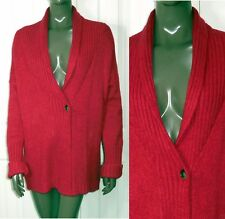 Eddie Bauer RED Shawl OVERSIZED CARDIGAN Sweater M/L Fits XL/1X  56 bust 30 long