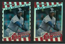 1998 DONRUSS GRIFFEY FANTASY TEAM DIE CUT 0081/ AND PLAIN 0341/2000