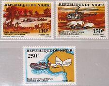 NIGER 1985 956-58 714-16 Niamey Bamako Motorboat Race Motorboote Boote MNH