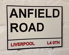 Liverpool fc Anfield Road Street Sign Metal Aluminium Football ground stadium