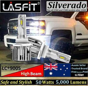 LASFIT plus 9005 50W LED Headlamp Bulbs Fit Silverado 2500 3500 High Beam 6000K