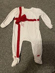 George Baby Girls Age 3-6 Months Christmas Sleepsuit Babyhrow