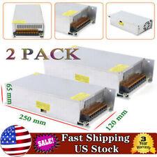 110v220vac To Dc5v 12v Switch Power Supply Driver Adapter Led Strip Light 2pack