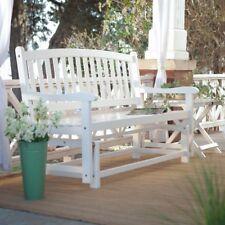Glider Bench Swing Outdoor Porch Rocker Loveseat Garden Patio Chair Rocking Deck