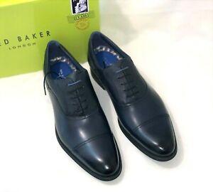 Ted Baker London Men's Sibits Leather Cap Toe Oxford In DK Blue SZ.US-13  EU-46