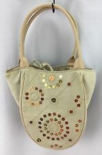Bath & Body Works Medium Polyester Tote Bag Beige Earth Tone Sparkles 160130/HA
