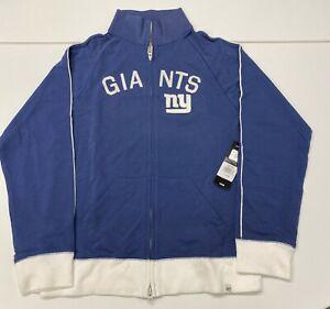 $80 NWT '47 NFL New York Giants Women's Tennis Stretch Track Jacket Full Zip XL