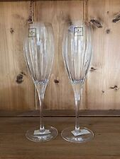 "NEW Christofle Crystal  IRIANA, Vertical Cuts Champagne Flute 8 5/8"" Tall"