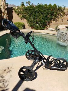 Clicgear Model 3.5+ Golf 3-Wheel Cart Sporting Push Golf Bag Carry cart Black