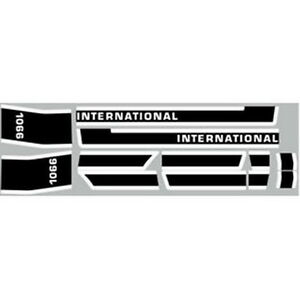 NEW 1066 INTERNATIONAL HARVESTER TRACTOR LATE MODEL HOOD DECAL KIT QUALITY 🎯