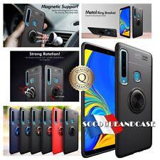 Coque housse magnétique Finger Ring Kickstand Cover Samsung Galaxy A7 ou A9 2018