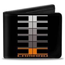 Men Wallet Bifold CMP 01 CAMARO Large C Black Gray Orange Trucker Logo Genuine