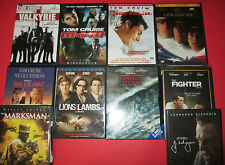 10 DVD - TOM CRUISE VALKYRIE/ MISSION IMPOSSIBLE 3 / A FEW GOOD MEN - NEW & USED