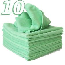 10 x Micro Fibre Cloths Large Super Soft Washable Green Duster Car Home Work