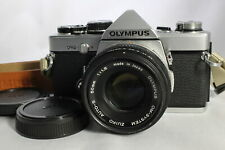 Very Good OLYMPUS OM-2N 35mm SLR Film Camera Silver with Zuiko 50mm f1.8 Lens