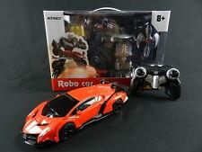 Transformer RC Remote Control Deformation Robot Orange Car
