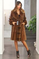 NWT GENUINE PLUCK SHEARED MINK FUR COAT, NOT SABLE FOX CHINCHILLA, Med - 8 / 10