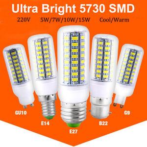 E27 E14 GU10 LED Birne Mais Licht Leuchtmittel Strahler Lampe 5730 Warmweiß 230V