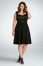 NWT Torrid Plus Size 18  Polka Dot Swing Dress  Black/White Pin Up (RR29)