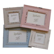 Shabby Chic Standing Multi Aperture Frame – Picture Pink Blue Cream Enchante