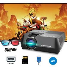 MINI 1600Lumen Full HD LED 1080P Heimkino Beamer Projektor HDMI/USB+3D Glasses