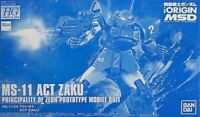 BANDAI HG 1/144 MS-11 ACT ZAKU Plastic Model Kit Gundam THE ORIGIN MSV NEW