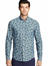 GANT By Michael Bastian The MB Paisley Button-Down Shirt XXL 2XL Storm Blue $195